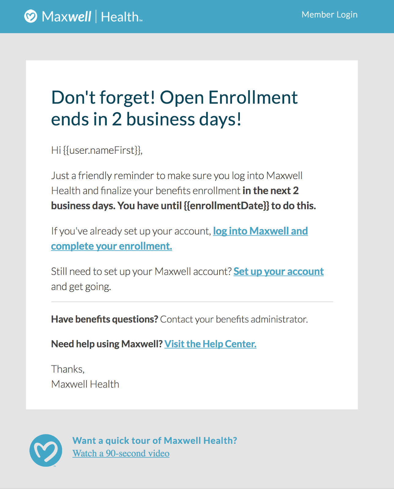 System Email Templates – Support